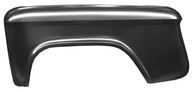 This rear, bedside stepside fender, driver's side fits 55-59 2nd Series Chevrolet Pickup Truck, 55-59 2nd Series GMC Pickup Truck, 60-66 Chevrolet Pickup Truck, 60-66 GMC Pickup Truck