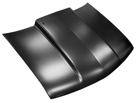 This cowl induction style hood, 1st design, fits 1994-2003 Chevy S-10 and GMC S-15 Pickup Trucks, 1995-2005 Blazer and GMC Jimmy