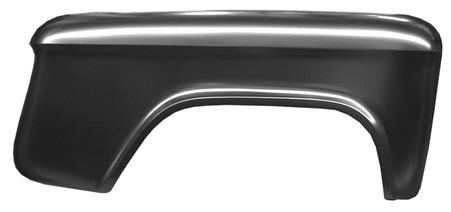 This rear, bedside stepside fender, passenger's side fits 1955-1959 2nd Series Chevrolet Pickup Truck, 55-59 2nd Series GMC Pickup Truck, 60-66 Chevrolet Pickup Truck, 60-66 GMC Pickup Truck