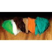 """Dyed Over White Strung Saddle Hackle 5-7"""""""