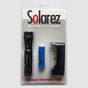 SolarRez High Output UVA Flashlight with Batteries and Charger