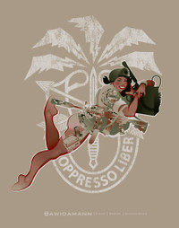 GREEN BERET PINUP GIRL