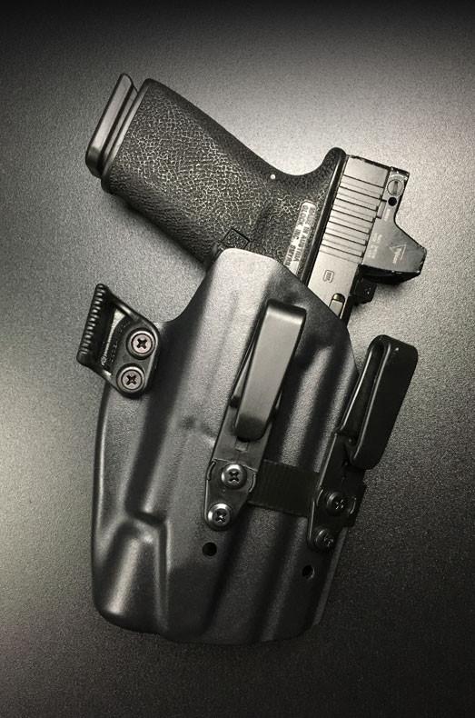 oder Linkshänder SWI Kydex Holster für Glock 34 für Recht Farben versch