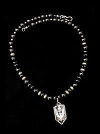 ST MICHAEL BLK ONYX/PYRITE/BLK POLISHED TI PROTECTION NECKLACE 00