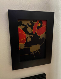 ALOHA POPPIES OF WAR ART FRAMED VIGNETTE 5x7