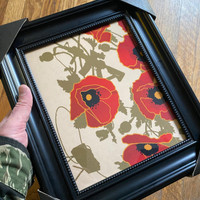 ALOHA POPPIES OF WAR ART FRAMED VIGNETTE 8x10