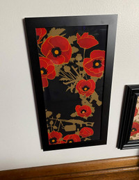 ALOHA POPPIES OF WAR ART FRAMED VIGNETTE 10X20