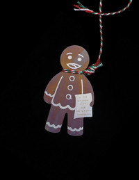 KITSCH TITANIUM GINGERBREAD MAN ORNAMENT