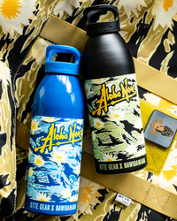 OTTE GEAR WATER BOTTLES ALOHA NOW BLUE HAWAII