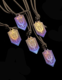 ARCHANGEL MICHAEL TITANIUM PROTECTION PENDANT  2020 FEAST DAY EDITION BRONZE/PURPLE FADE