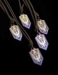 ARCHANGEL MICHAEL TITANIUM PROTECTION PENDANT  2020 FEAST DAY EDITION BRONZE/PURPLE FADE HALO FINISH
