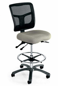 Drafting Stool, Mesh Medium Back, Seat Depth