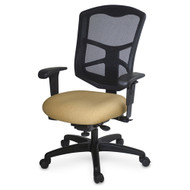 Mesh High Back Chair, Ergo Controls, Seat Depth, capacity 300 lbs