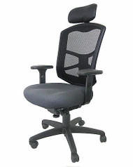 Mesh High Back Chair, Headrest, Simple Function, Seat Depth