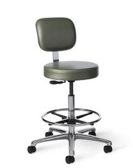 "All Purpose Stool"""" Counter Height"""" Adjustable Back"""" 23-33"" Height"""" Adjustable Footring"