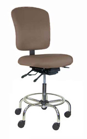 "Heavy Duty  24-7  Drafting Chair, Seat Depth, Safety Step, 25-33"", 300 lbs"