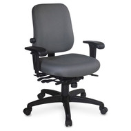 ESD High Back Task Chair, Lumbar Seat Depth Adjust