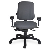 Executive Ergonomic Office Chair, No Arms, 300 lbs capacity