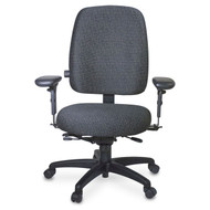 Officers Ergonomic Office Chair, Lumbar, Seat Depth