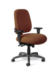"""Tall Executive Chair, Seat Depth Adjust, Lum Adjust, No Arms, Back 19.5""""-22.5"""" Ht, Seat  22""""W x 23-26"""" L, 300 lbs"""