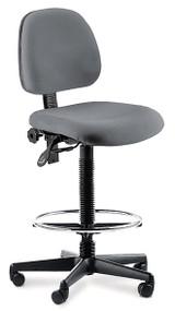 Petite ESD Ergo Drafting Chair, Footring, 22-32, Petite to Medium Users