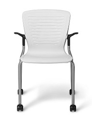 Designer Guest Chair, Agile Back and Seat, Arms, Stacks 4, 15 with dolly, minimum order 2