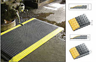 Comfort Anti-Fatigue Mat, Yellow Edge