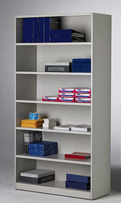 Bookcase Bulk Storage Cabinet 42w x 80h x 16d 5 adjust shelves