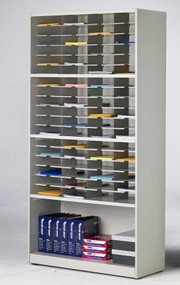 Literature Forms Storage Cabinet 42w x 80h x 16d 72 pockets