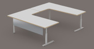 Standard Surround Desk System, , 72 x 48 x 48 x 72 Fixed Height, 90 Trim Edge  Color? Add Freight