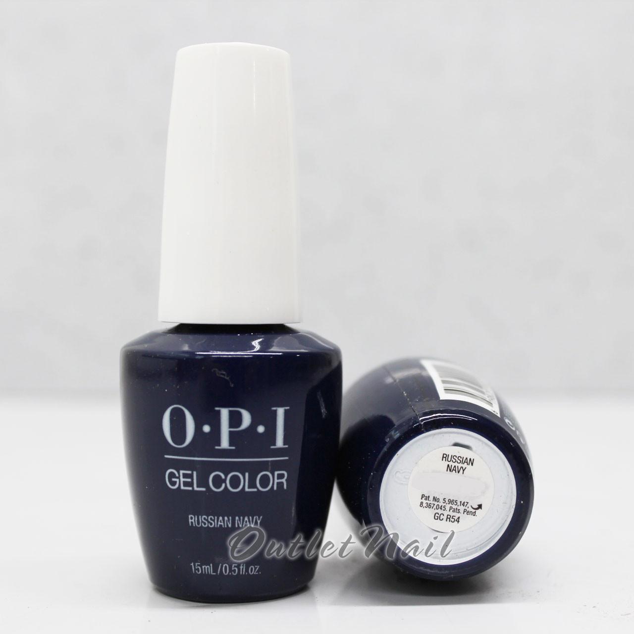 OPI GelColor RUSSIAN NAVY GC R54 15ml 0.5oz Soak Off UV LED Gel Nail ...