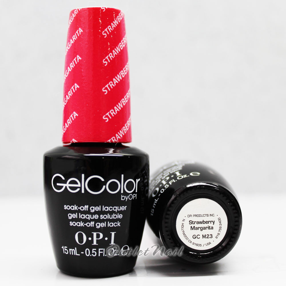 Opi Gelcolor Strawberry Margarita Gc M23 15ml 0 5oz Soak Off Uv Led Gel Nail Polish Gcm23 Outletnailsupply Com