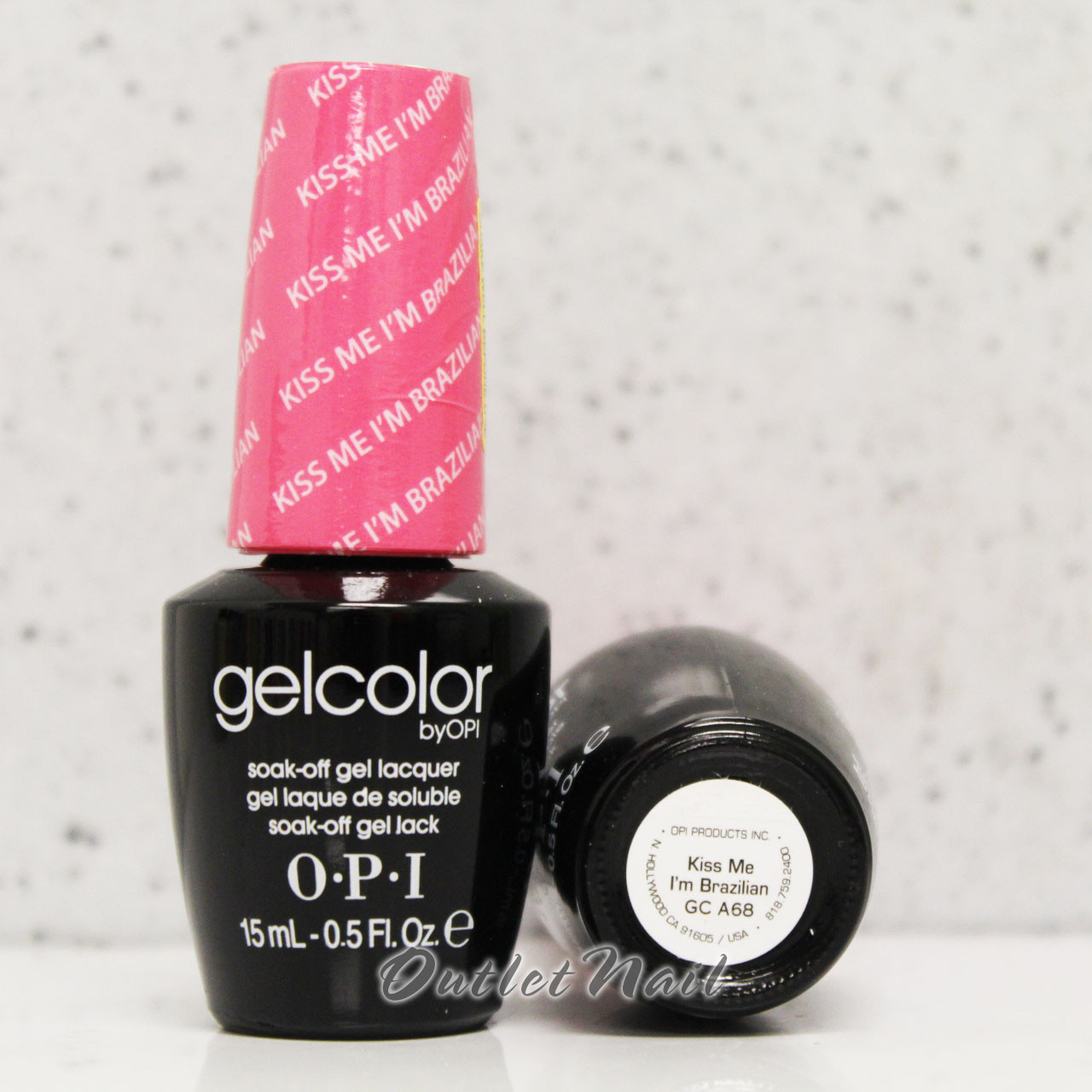 Opi Gelcolor Kiss Me I M Brazilian Gc A68 15ml 0 5oz Brazil