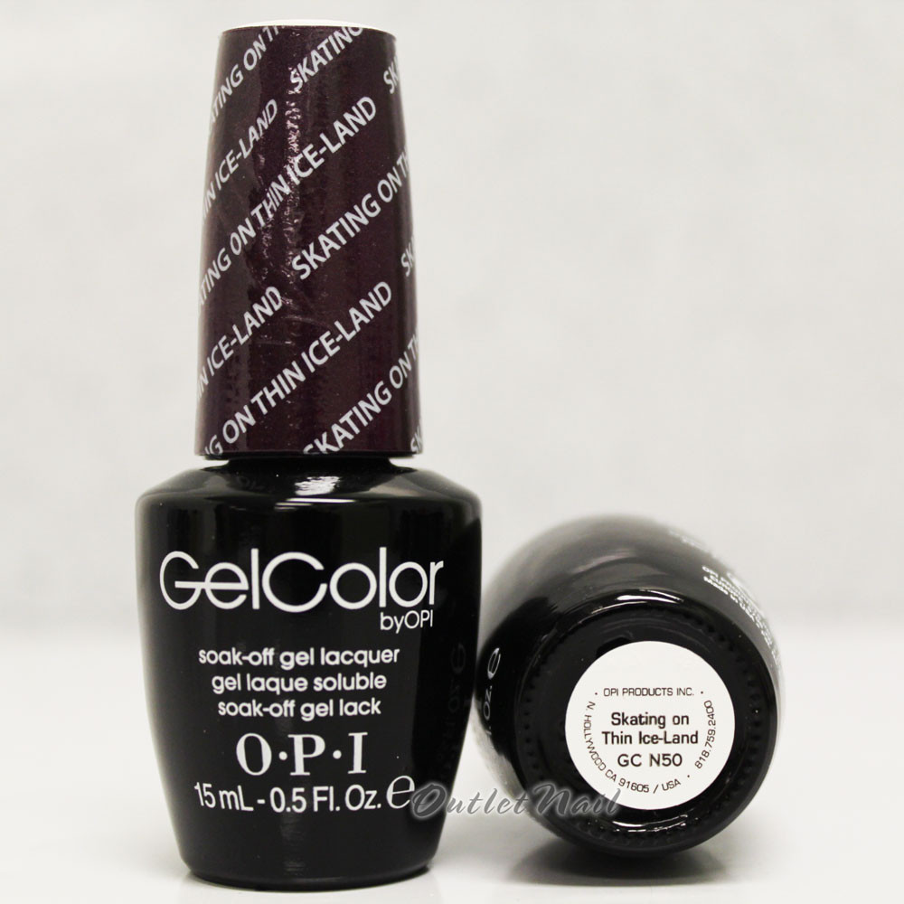 OPI GelColor SKATING ON THIN ICE-LAND GC N50 15ml 0.5oz Nordic ...