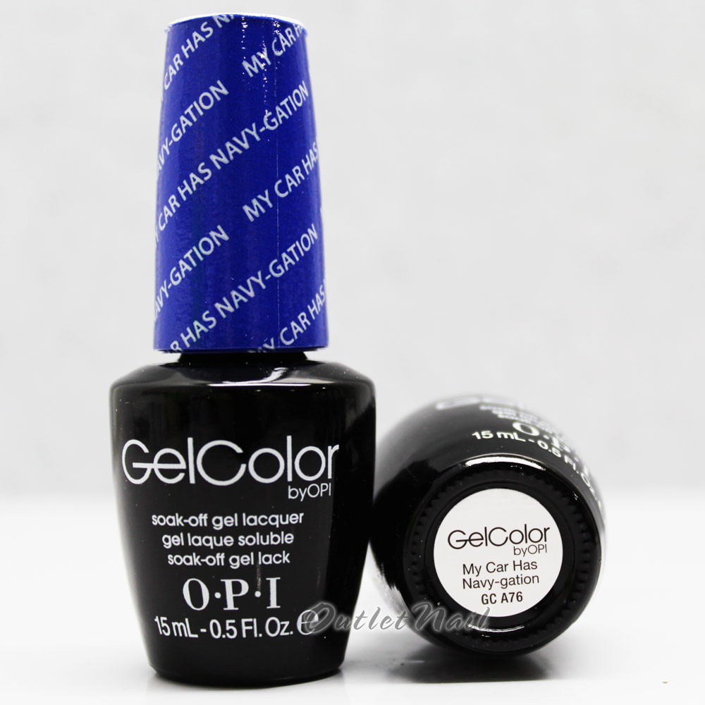 OPI GelColor MY CAR HAS NAVY-GATION GC A76 15ml 0.5oz Brights ...