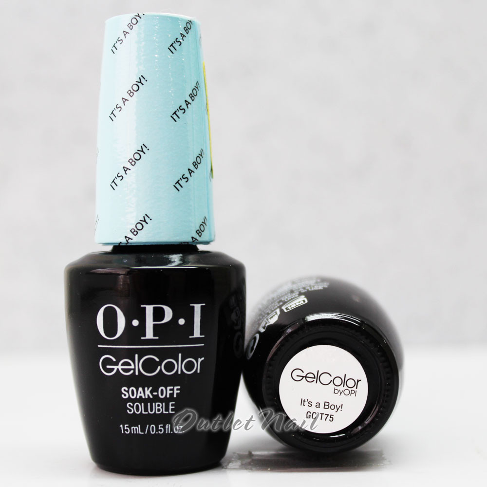 Opi Gelcolor It S A Boy Gc T75 15ml 0 5oz Soft Shades Pastel Collection Uv Led Gel Nail Polish Gct75