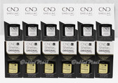 CND Shellac UV Gel Polish SET OF 12 Combination : 6 * Base Coat & 6 * Top Coat 7.3ml 0.25oz Collection WHOLESALE BULK PACK