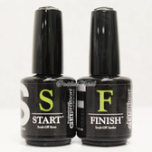 JESSICA GELeration Soak Off Gel 2pc Kit > Base Coat & Top Sealer (START & FINISH) GE-100 GE-200