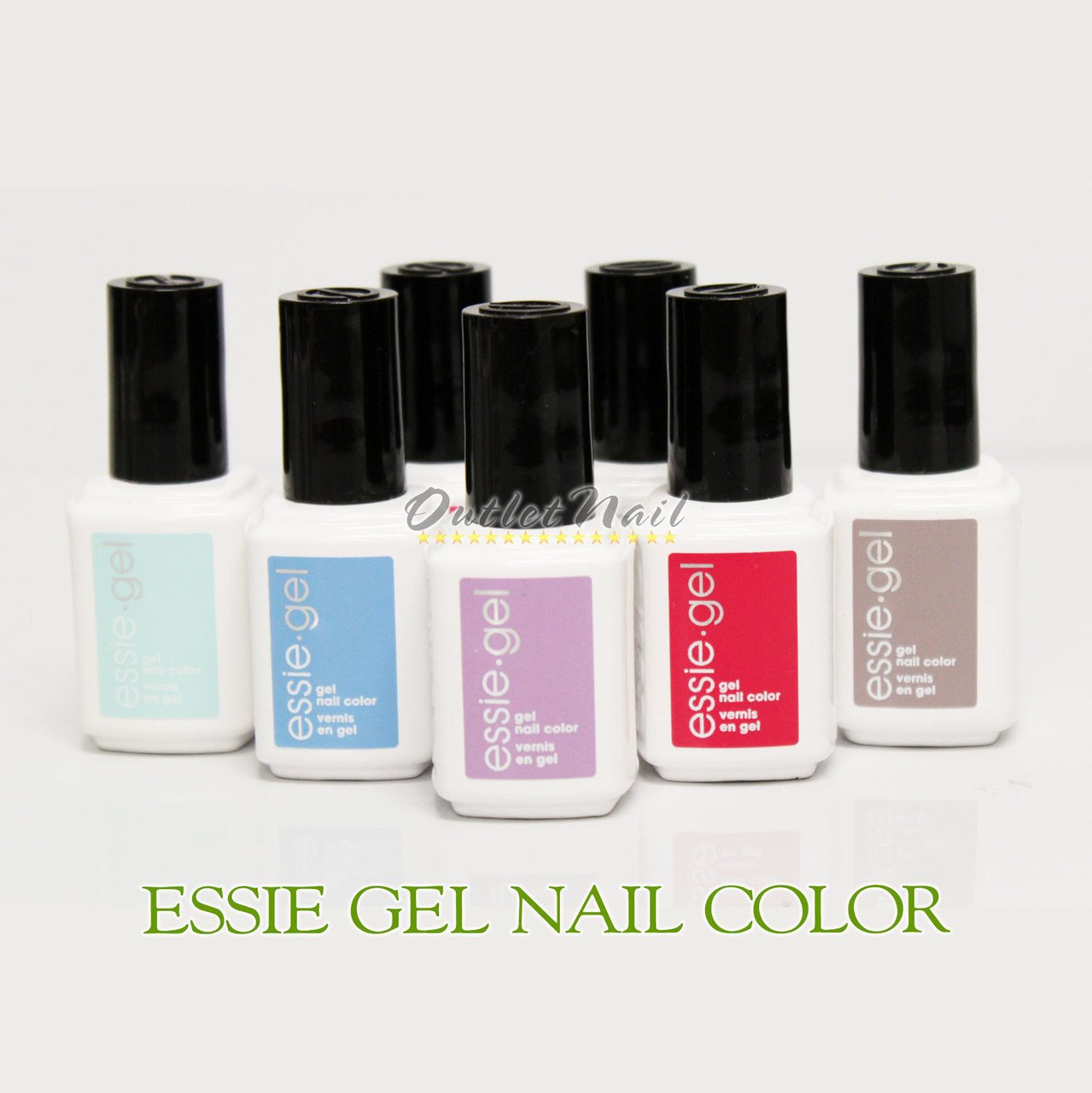 ESSIE Gel Color Soak Off UV LED Nail Gel Polish Base Top Coat 12.5mL ...