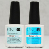 CND BRISA LITE Removable Sculpting Smoothing Gel >> BASE & TOP COAT 0.5 oz 15ml