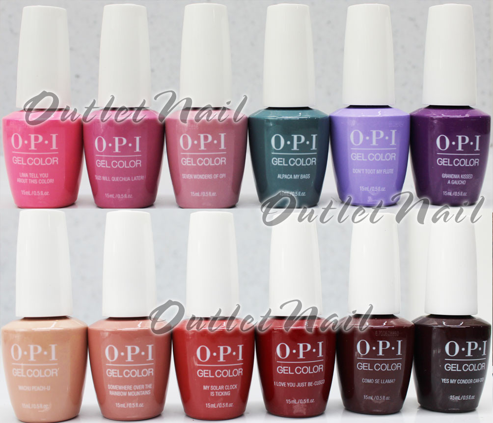 Opi Soak Off Gelcolor Peru Collection Kit Gel Polish Color