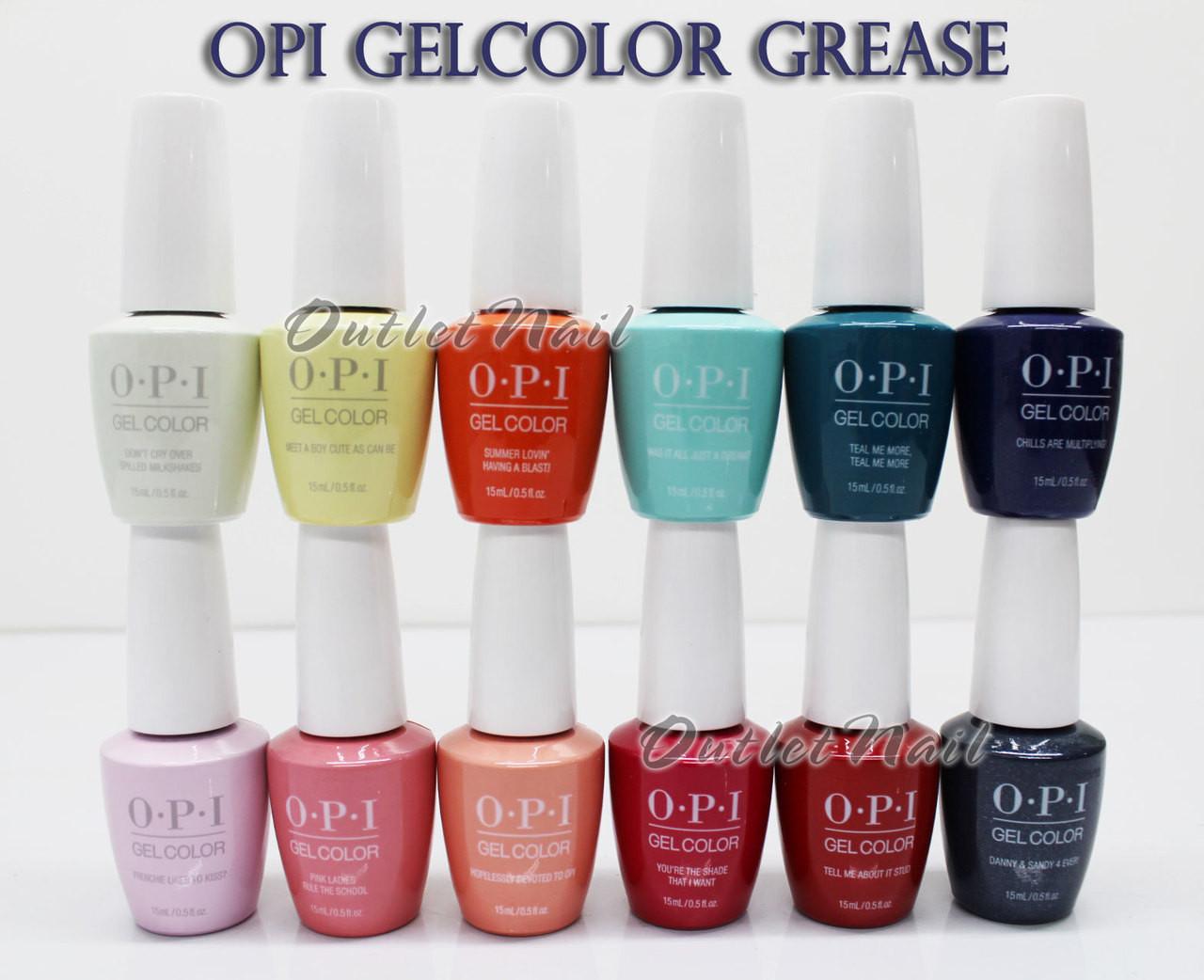 Opi Soak Off Gelcolor Grease Collection Kit Gel Polish Color Summer