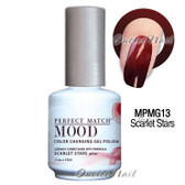 LeChat Perfect Match MOOD MPMG13 SCARLET STARS Color Changing UV LED Gel Polish