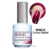 LeChat Perfect Match MOOD MPMG18 CRIMSON NIGHTFALL Color Changing UV LED Gel Polish