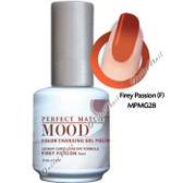 LeChat Perfect Match MOOD MPMG28 FIREY PASSION Color Changing UV LED Gel Polish