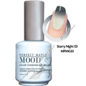 LeChat Perfect Match MOOD MPMG35 STARRY NIGHT Color Changing UV LED Gel Polish
