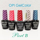 OPI GelColor PART B Soak Off Led UV Gel Polish Base Top Coat - SHIP 24H