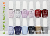 OPI Soak-Off GelColor HELLO KITTY Collection 2019 Holiday Kit Gel Polish Color 0.5oz 15ml