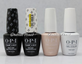 OPI GelColor Gel French Manicure 4pc Set: BASE COAT + TOP COAT + FUNNY BUNNY + BUBBLE BATH