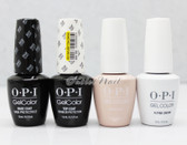 OPI GelColor Gel French Manicure 4pc Set: BASE COAT + TOP COAT + ALPINE SNOW + BUBBLE BATH